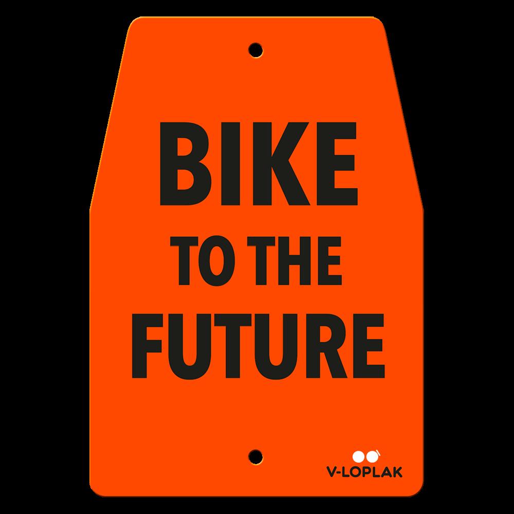 Plaque vélo fluo orange