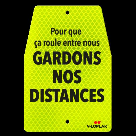 Plaque vélo - Rétro-réfléchissant jaune