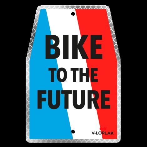 Plaque vélo rétro-réfléchissant blanc