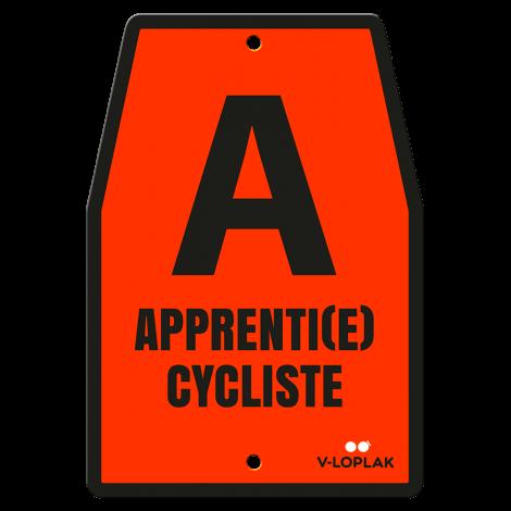Plaque vélo fluo orange pour enfants