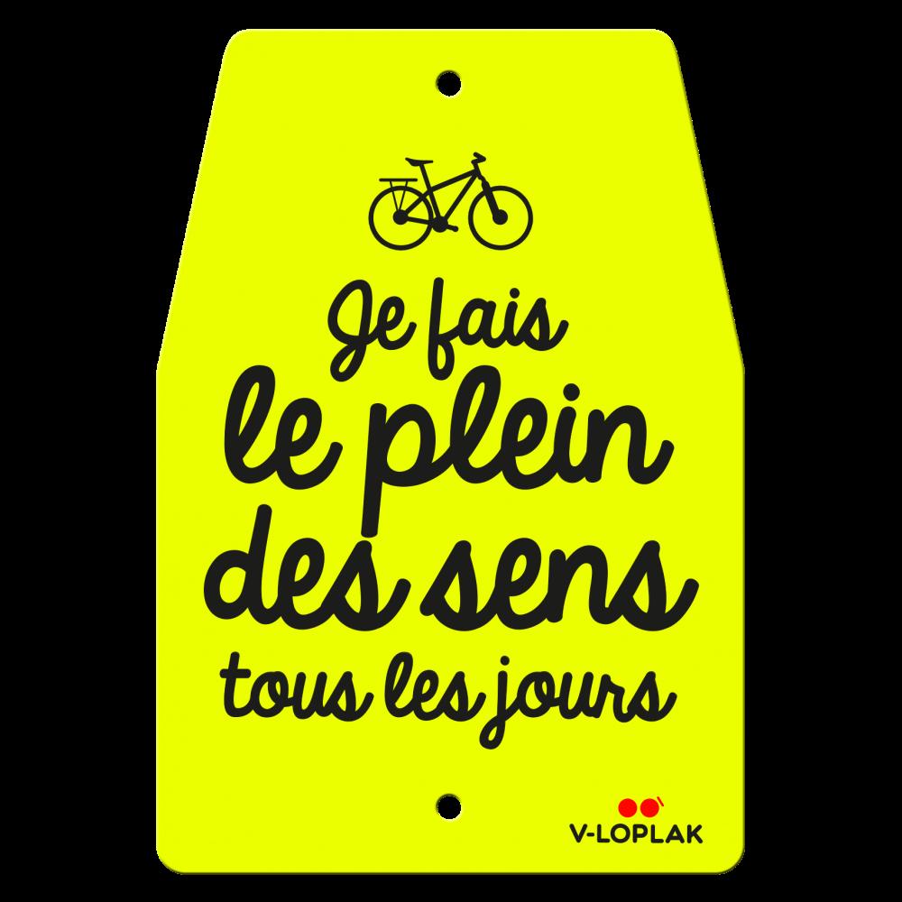 Plaque vélo fluo jaune
