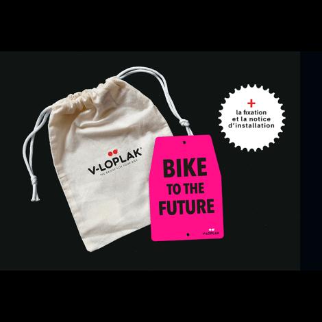 Plaque vélo - fluo rose