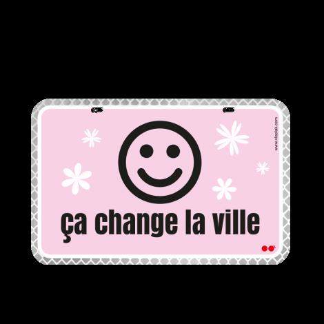 Ça change la ville (pink)